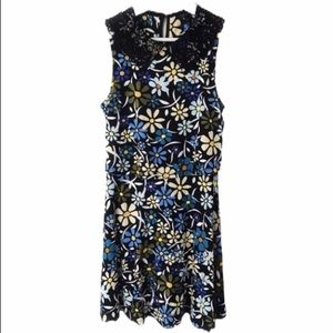 Topshop Floral Daisy Print Sleeveless Mini Dress